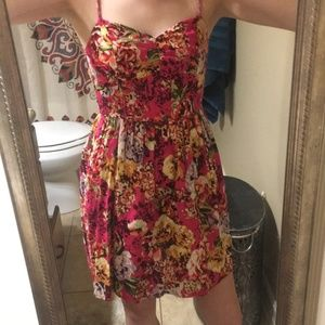 Xhilaration Floral Print Spaghetti Strap Dress